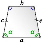 area isosceles trapezoid side