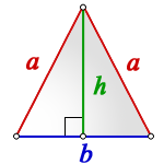 area isosceles triangle