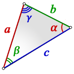 area triangle side 2angles