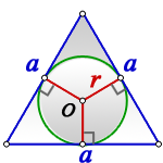 radius circle inscribed equilateral triangle