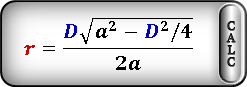 radius circle inscribed rhombus Formula1