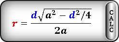radius circle inscribed rhombus Formula2