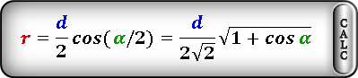 radius circle inscribed rhombus Formula3