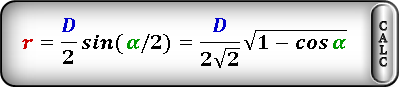 radius circle inscribed rhombus Formula4