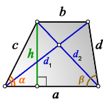 diagonals trapezoid h