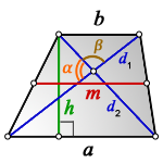 diagonals trapezoid m