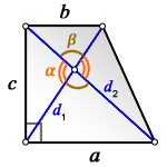 c lateral side rectangular trapezoid d