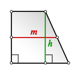 middle line rectangular trapezoid S