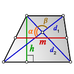 middle line trapezoid d