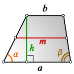middle line trapezoid h