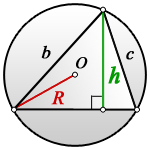 height arbitrary triangle R