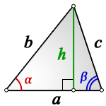 height arbitrary triangle