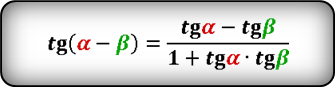 difference tg Formula
