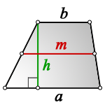 area of trapezoid m