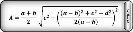 area of trapezoid side formula