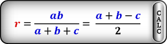 radius circle inscribed right triangle F