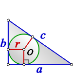 radius circle inscribed right triangle