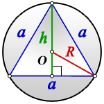 radius circumscribed circle equilateral triangle