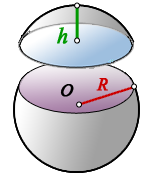 surface area spherical segment