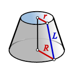 surface area truncated cone