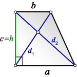 Diagonal rectangular trapezoid