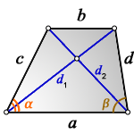 diagonals trapezoid abcd