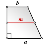 length bases rectangular trapezoid m