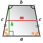 middle line isosceles trapezoid h