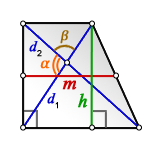 middle line rectangular trapezoid d