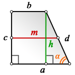 middle line rectangular trapezoid h