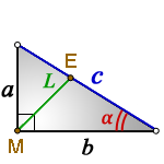 Bisector right triangle