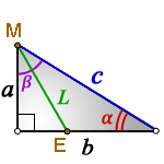 Bisector right triangle1