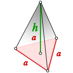 volume regular triangular pyramid
